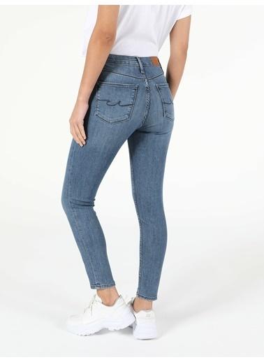 Colin's 760 Dıana Orta Bel Dar Paça Super Slim Fit Jean Kadın Jean Pantolon İndigo